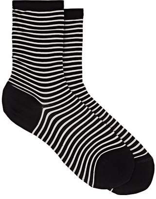 Antipast Women's Striped Cotton-Blend Mid-Calf Socks