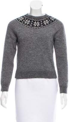Saint Laurent Mohair & Wool-Blend Intarsia Sweater