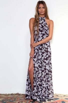 Flynn Skye Tyra Maxi Dress in Plum Ivy $187 thestylecure.com