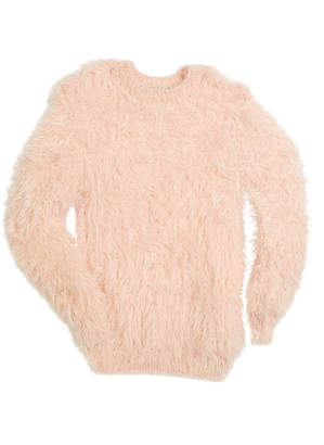Autumn Cashmere Fuzzy Mock-Neck Sweater, Size 6-16