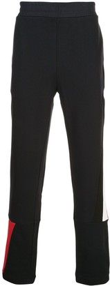Moncler side stripe logo patch track pants