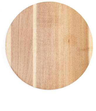 ENCHANTE Galvanized Metal & Acacia Wood Round Chopping Board