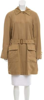 Burberry Hooded Belted Coat