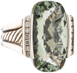 David Yurman Diamond Prasiolite Ring $495 thestylecure.com