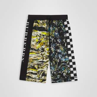 Burberry Graphic Print Cotton Drawcord Shorts , Size: 12Y, Miscellaneous