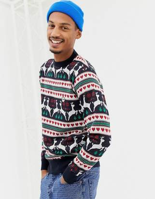 Le Breve Reindeer Holidays Sweater