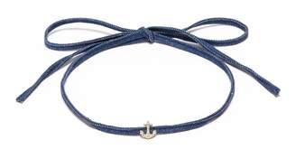 HEFANG 'Cruise' cubic zirconia anchor ribbon tie choker