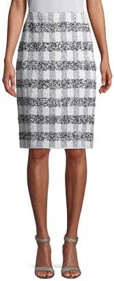 St. John Women's Plaid Pencil Skirt