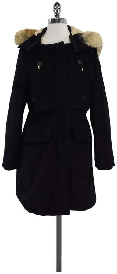 Marc by Marc Jacobs Black Corduroy Sherling Coat