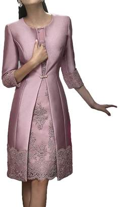 1c55c6e5ba8c2 H.S.D Mother of The Bride Dress Short Formal Gowns with Jacket W