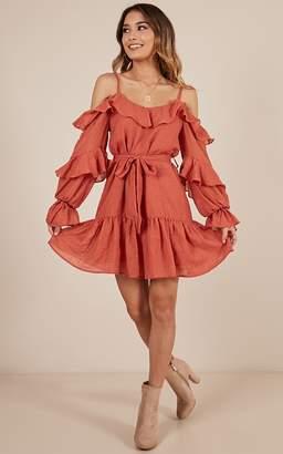 Showpo On A Roll dress in rust