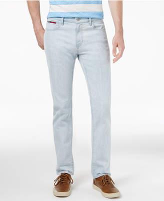Tommy Hilfiger Men's Slim-Fit Light Indigo Wash Jeans $69.50 thestylecure.com