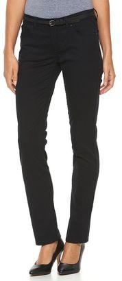 Women's Apt. 9® Modern Fit Sateen Straight-Leg Pants $44 thestylecure.com