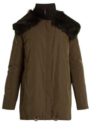 Moncler Agapanthus Fur Trimmed Down Filled Parka - Womens - Khaki