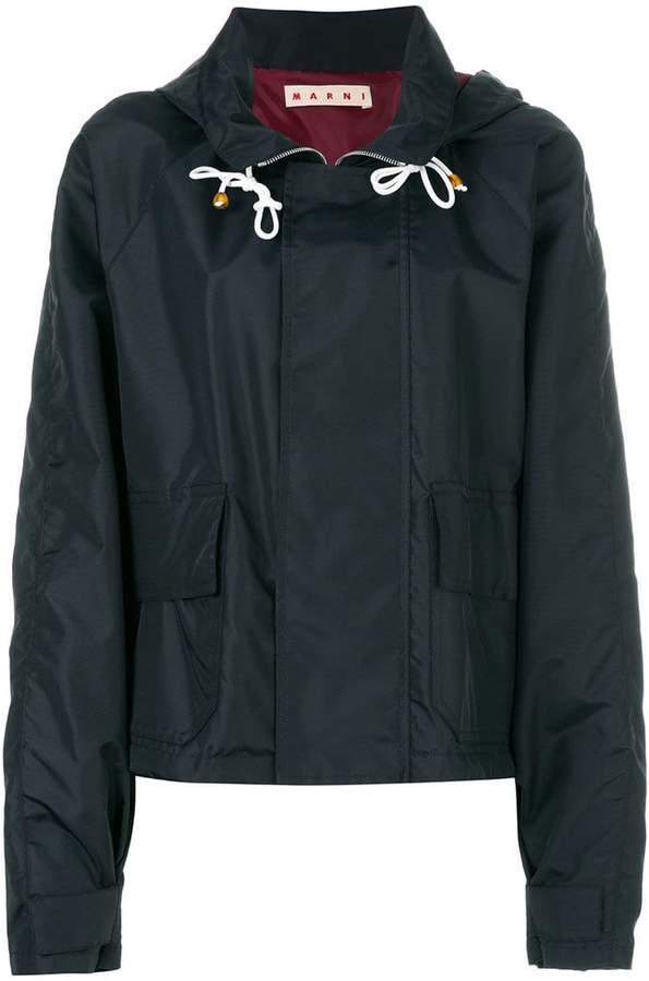 concealed front zip jacket