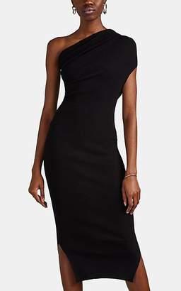 Rick Owens Women's Rib-Knit One-Shoulder Midi-Dress - Black