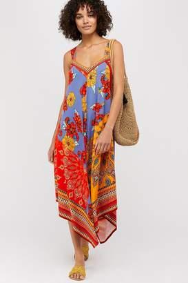 Monsoon Womens Ladies Orange Jolene Jersey Scarf Print Maxi Dress - Orange