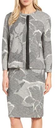 Women's Boss Karala Jacquard Collarless Jacket $495 thestylecure.com