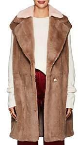 BLANCHA Women's Mink Fur Wrap Vest