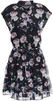 Rebecca Minkoff Tiered Floral-print Organza Mini Dress