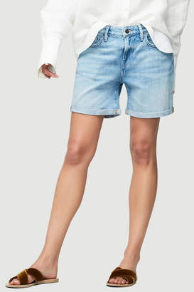 Frame Embroidered Cuff Short