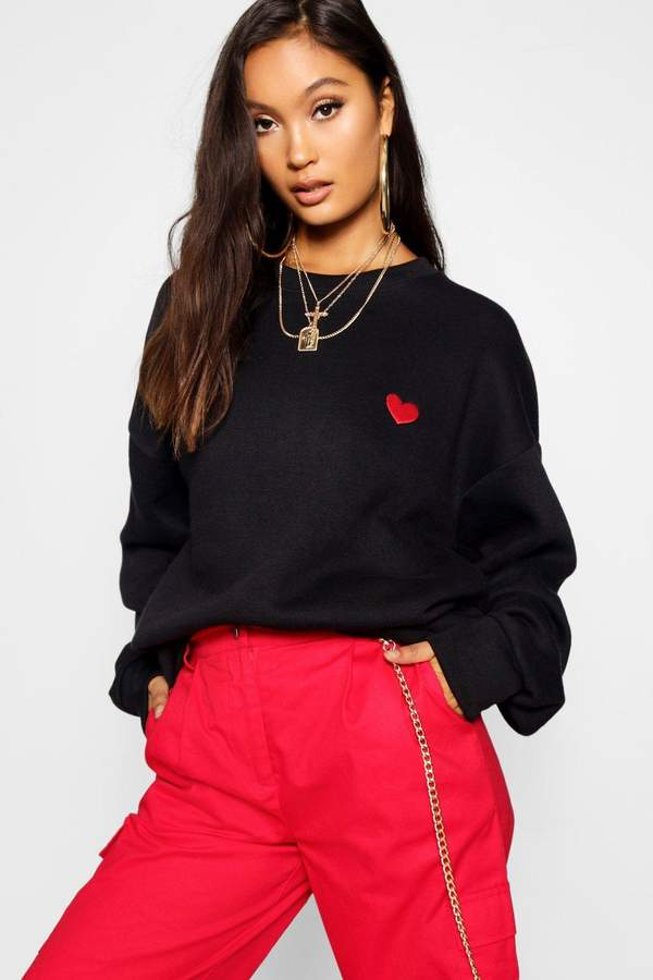 boohoo Embroidered Oversized Sweater