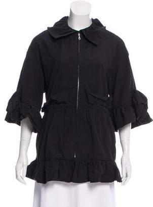 Goen.J Short Sleeve Zip-Up Jacket