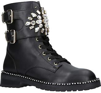 Kurt Geiger London Stoop Embellished Ankle Boots, Black Leather
