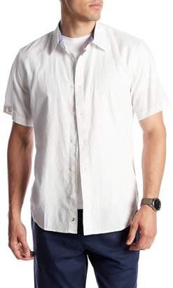 Blend of America Fundamental Coast Shores Linen Dot Print Regular Fit Shirt