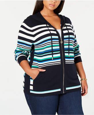 19167a831c5 Tommy Hilfiger Plus Size Cotton Striped Hoodie Top