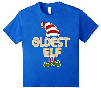 Oldest Elf T-Shirt Funny Merry Christmas Costume Gift Shirt
