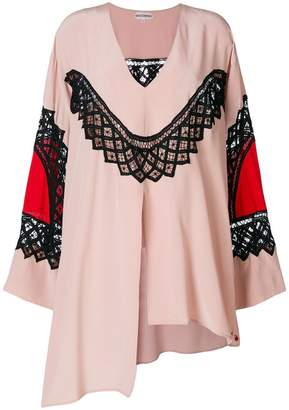 Giacobino embroidered asymmetric tunic