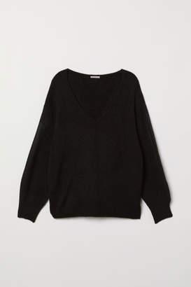 H&M H&M+ V-neck Sweater - Black