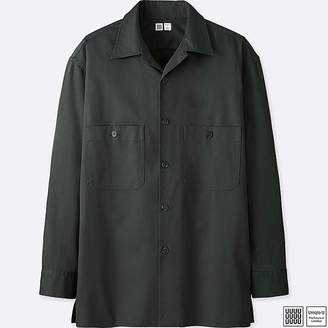 Uniqlo Men's U Open Collar Long-sleeve Shirt