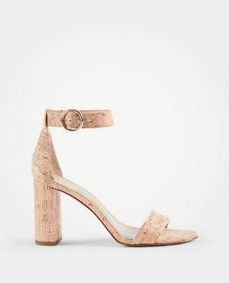 Ann Taylor Leannette Cork Block Heel Sandals