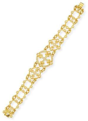 Eli Jewels Aegean 18k Diamond Cross Bracelet
