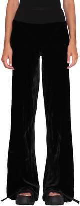 Rick Owens Black Silk Blend Bias Pants