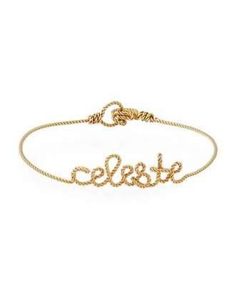 Atelier Paulin Personalized 5-Letter Twist Wire Bracelet, Yellow Gold Fill