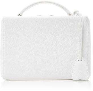 Mark Cross Small White Pebbled Leather Bag $2,195 thestylecure.com