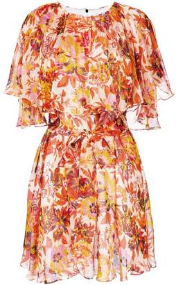 MSGM floral chiffon dress