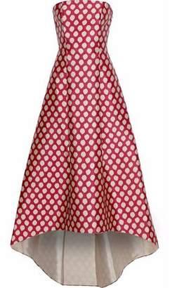 Sachin + Babi Strapless Polka-Dot Duchesse-Satin Gown