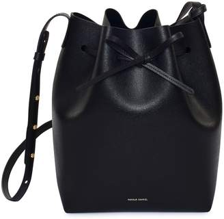 Mansur Gavriel Saffiano Bucket Bag - Black