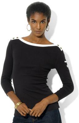 Lauren Ralph Lauren Three-Quarter-Sleeved Boatneck Shirt