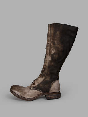 A Diciannoveventitre WOMENS GREY LACE-UP BOOTS