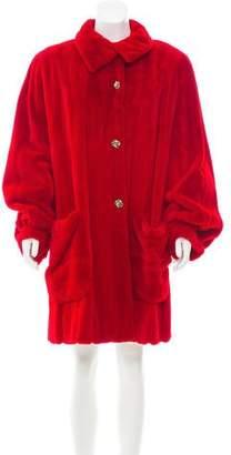Valentino Revillon x Sheared Mink Fur Coat