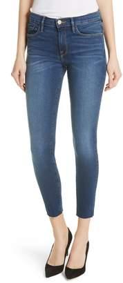 Frame Le Skinny de Jeanne Raw Hem Crop Jeans