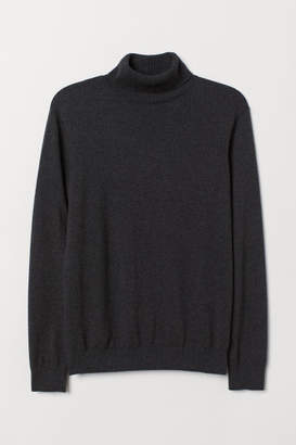 H&M Knit Turtleneck Sweater - Black