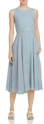 Marella Tordo Striped Midi Dress