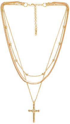 Luv Aj Serpent Cross Charm Necklace