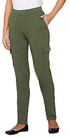 Denim & Co. Active French Terry Pull-on Pant w/ Cargo